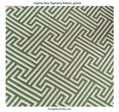 Cyprus Key Tapestry Fabric, green