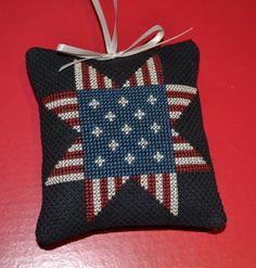 Cross Stitch Ornament Primitive Star by lovemypaperaddiction, $9.99