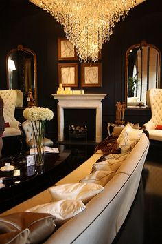 Gorge! Love the crystal and colors. Would totes have a formal living room similar.