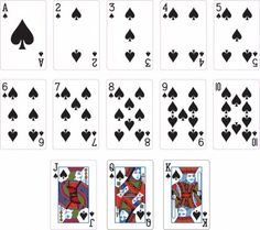 Spade Suit Two playing Cards