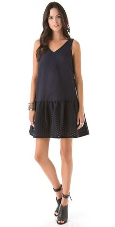 Special Offers Available Click Image Above: Tibi Tess Jacquard Ruffle Hem Dress
