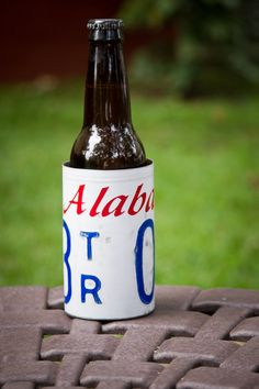 This is a great gift for the men in my family, too! I love these! Alabama License Plate Coozie from 3 Sisters Design Co and Bourbon & Boots