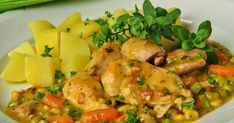 Czech Recipes, Ethnic Recipes, Cooking Recipes, Healthy Recipes, Healthy Food, Main Meals, Thai Red Curry, Poultry, Potato Salad