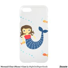 Mermaid Clear iPhone 7 Case