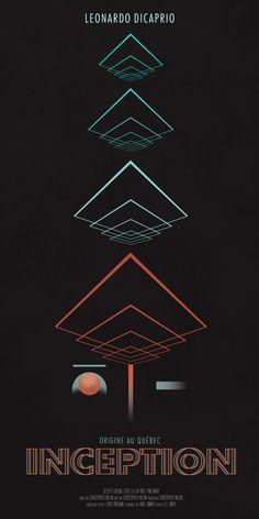 Inception (2010) ~ Minimal Movie Poster by Patrick Bonsu #amusementphile