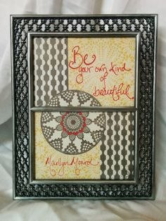 Be Your Own Kind of Beautiful, Framed Quote by SplatteredDaisies on Etsy