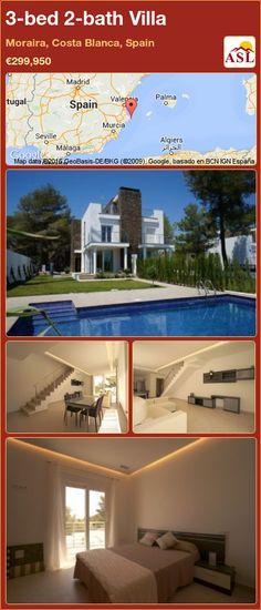 3-bed 2-bath Villa in Moraira, Costa Blanca, Spain ►€299,950 #PropertyForSaleInSpain