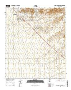 ~ Superstition Mountains SW AZ topo map, 1:24000 scale, 7.5 X 7.5 Minute, Current, 2014