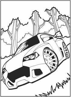 crazy car coloring pages - photo#4