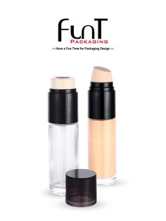 New style twist foundation liquid pump with glass bottle. Packaging Solutions, Liquid Foundation, Glass Bottles, Packaging Design, Pump, Container, Lipstick, Skin Care, Cosmetics