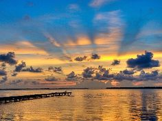 Florida Keys skies are the color of melting gold and azure