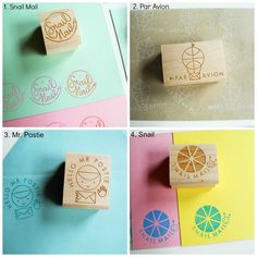 Image of Snail Mail Book Rubber Stamps