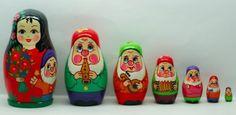 Russian Nesting Dolls Toy Snow White 7 Pcs Matryoshka | eBay