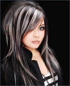 White highlights on dark brown hair girlie stuff pinterest platinum highlights on dark hair pmusecretfo Images