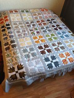 Bear Paw bed quilt