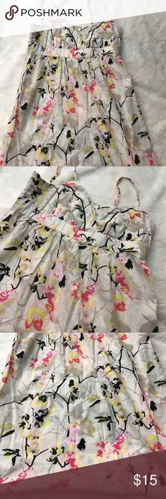 "H&M Floral Print Dress Size 10 Size 10. In excellent preworn condition. Armpit to armpit  15"" // length of the dress is 26"" sorry no trades. H&M Dresses"