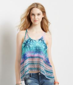 Sheer Palm Tree Tank - Aéropostale®