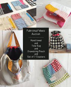 coasters & bag:handmade*zakka | fabrickaz+idees