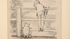 E.H. Shepard's ink drawing of the bear playing Poohsticks with Piglet and Christopher Robin was published in 1928. It sold for £314,500 ($493,010 USD) @ Sotheby's.