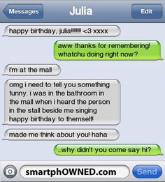 Funny texts 42 – Fit for Fun Find very good Jokes, Memes and Quotes on our site. Keep calm and have fun. Funny Pictures, Videos, Jokes & new flash games every day. Funny Text Messages Fails, Funny Texts Jokes, Text Jokes, Funny Texts Crush, Cute Texts, Text Message Fails, Stupid Funny Memes, Funny Relatable Memes, Awkward Text Messages