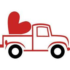 Silhouette Design Store: Truck And Heart – framepicture Vinyl Projects, Craft Projects, Sewing Stitches By Hand, Doodle Frames, Wooden Welcome Signs, How To Make Stickers, Valentines Greetings, Silhouette Design, Silhouette Cameo
