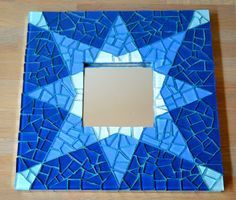 Spiegel blauw ster glas van mimosaico op Etsy