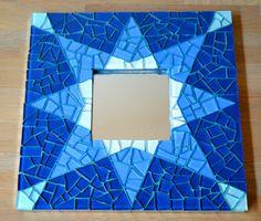 Mirror blue star glass mosaic van mimosaico op Etsy, $35,00