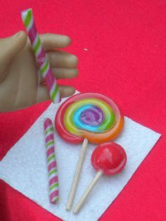 Polymer clay food for 18 inch dolls