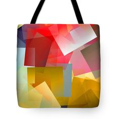 Simple Cubism Abstract 96 Tote Bag by Chris Butler.#totebag #bag #abstract #colorful #design #art #Lifestyle