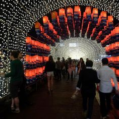 As part of the magnificent Jinju Lantern Festival in South Korea this bridge over the Namgang River is covered in thousands of lights creating a tunnel to guide your way across @passionpassport #PPBridges