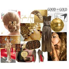 """""""Gold """" by zcilac on Polyvore"""