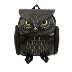 Owl backpack Small & adorable owl black backpack with gold tone hardware and stitching. Brand new and beautiful- very unique. Size is small. 2 outside zipper pockets, 1 slit pocket inside, zips up top and covers with a magnetic button. Straps are adjustable  ❌❌❌NO TRADES❌❌❌ Bags Backpacks