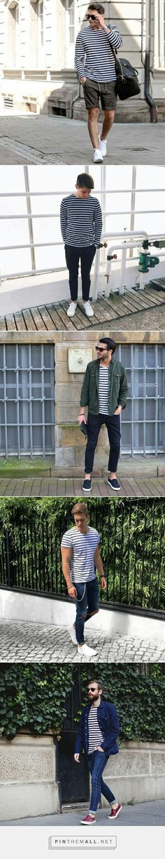 How to wear striped tee.