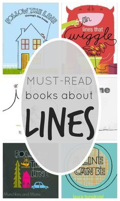 Must-Read books about Lines. Great reads for the preschool crowd who are exploring lines and shapes!