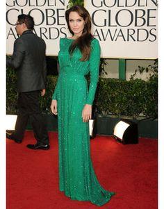Angelina Jolie, Golden Globes, 2011, Versace