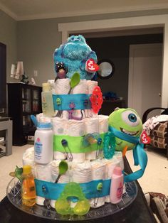 monsters inc baby shower ideas baby cake baby baby shower monsters