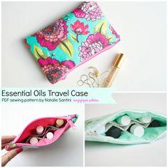 Essential Oils Travel Case sewing PDF pattern Essential Oil Holder, Essential Oil Case, Joann Fabrics, Bag Patterns To Sew, Pdf Sewing Patterns, Sewing Essentials, Bottle Cap Necklace, Sewing Accessories, Fabric Scraps