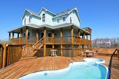 OBX 2015 Southern Manor | Corolla Rentals | Village Realty 5 bed / 4 bath WH321:  Southern Manor Whalehead Beach neighborhood $3,995 arrive Saturday pool