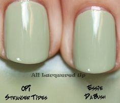 essie da bush nail polish comparison swatch with opi stranger tides