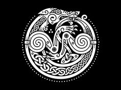 Celtic Wolf by Sergey Arzamastsev Popular Viking Art, Norse, Celtic Circle, Moon Tattoo, Tribal Art, Wolf Tattoo Design, Celtic Tribal, Celtic Art, Circle Tattoos