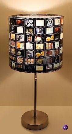 Luminaria hecha con película fotográfica