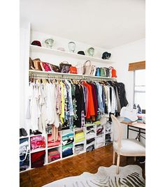 the actual closet of my dreams... I could make this happen... yes, I could