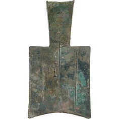 Esta moneda fue usada en china por el reino de Zhou, está hecha de cobre, y fue creada entre 534 - 380aC.