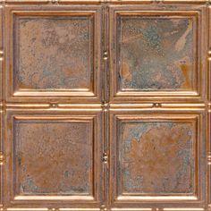 """Decorative Ceiling Tiles, Inc. Store - Piazza San Marco - Copper Ceiling Tile - 24""""x24"""" -"""