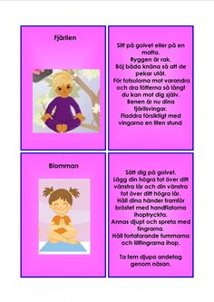 Yoga For Kids, Exercise For Kids, Learn Swedish, Swedish Language, Massage, Learning, Buxus, Studying, Teaching