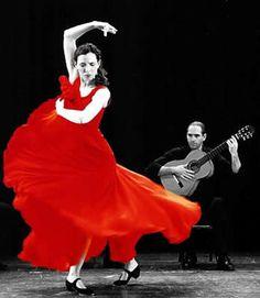 Flamenco ROCK Raffaello 3 Nero//Rosso