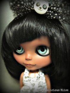 black blythe dools | Panda Love, OOAK Custom Black Blythe Art Doll and Furnished Display ...