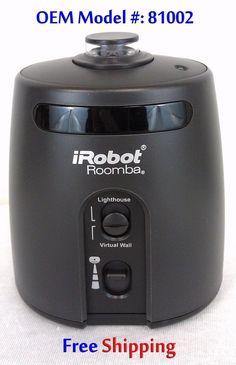 $38 Free Ship Roomba Virtual Wall Lighthouse OEM 81002 IRobot For 780 790 880 Some 500s BLACK #IRobot #Roomba