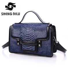 58.99$  Buy now - http://aliozq.worldwells.pw/go.php?t=32634874216 - Designer100% genuine leather Fashion  noble Women Handbag sapphire colour Shoulder Bag Messenger Bag Crocodile pattern cover Bag
