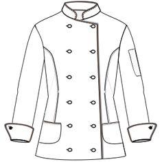 Confeccion de moda profesional Chaqueta cocinero M 6803 UNIFORMES Camisas  Chaquetilla Cocinero bdadc6bd51175